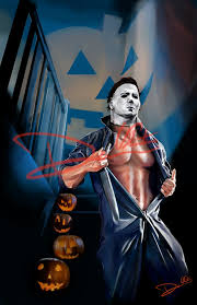 image michael myers halloween hunks of horror pinup by cordy5by5