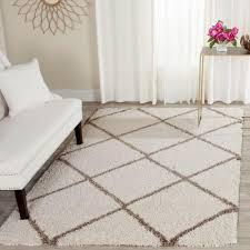 Living Room Rugs 10 X 12 Safavieh Hudson Shag Ivory Gray 10 Ft X 14 Ft Area Rug Sgh281a