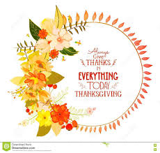 happy thanksgiving day greeting card with wreath stock vector