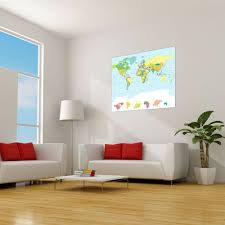 map the world large repositionable wall sticker decal ebay map the world large repositionable wall sticker