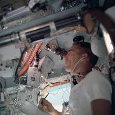 Lunar Module Interior File Apollo 7 Mission Lunar Module Pilot Walter Cunningham Inside