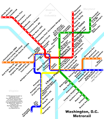 Dc Metro Bus Map by Washington Metro Rail