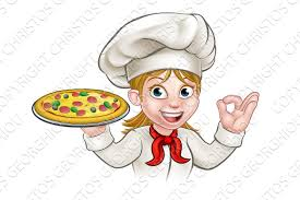 chef pizza chef woman and pizza illustrations creative market