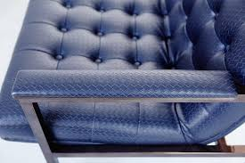 Navy Blue Leather Club Chair Mid Century Navy Leather Sofa From Chromcraft For Sale At Pamono