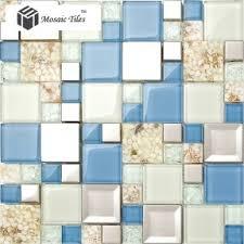 Resin Backsplash - tst glass conch tiles
