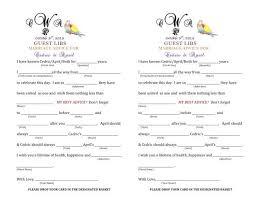 Marriage Advice Cards For Wedding My Diy Wedding Lib Cards For My Guest Book Weddingbee Photo Gallery