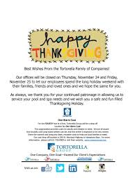 best wishes and happy thanksgiving from the tortorella family of