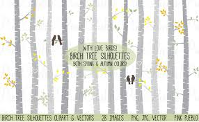 birch tree clipart and vectors illustrations creative market