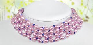 make beads necklace images How to make your own large pearl choker necklace with seed beads jpg