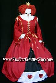 deluxe queen of hearts halloween costume plus size and super