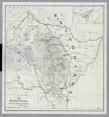Map South Dakota Black Hills Of South Dakota And Wyoming David Rumsey Historical