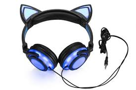 light up cat headphones light up cat ear headphones mugwomp