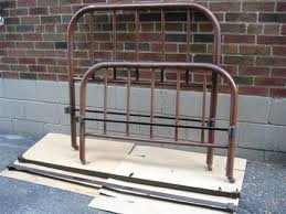 Antique Metal Bed Frame Sold Vintage Antique Metal Bedframe Wider Than Twin Great4craft