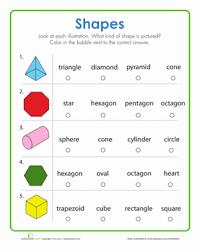 identify shapes worksheet education com