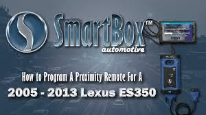 lexus es 350 wheel lock key how to program a proximity key to a 2005 2013 lexus es350 youtube