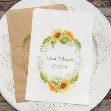 sunflower wedding favors wedding favor bags sunflower wedding sunflower favor bags