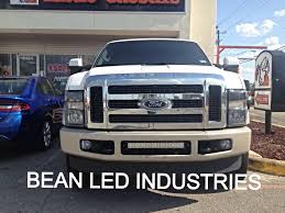 f250 led light bar an f250 with a 21 xtreme series led light bar mounted in the bumper