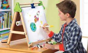 magnetic easel for toddlers discovery kids 3 in 1 tabletop easel groupon