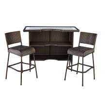Ty Pennington Furniture Collection by Patio Furniture Bar Tableet With Barstools Piece Outdoor Wicker