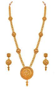 long necklace set images Jfl gold gold plated spiral designer long necklace set size 28 jpg