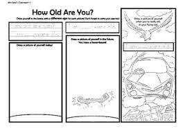 how old are you esl draw color and write worksheet by