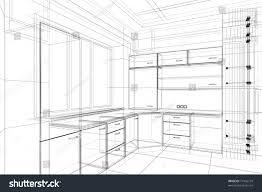 Sketch Kitchen Design by Abstract Design Sketch Kitchen Interior Stock Illustration
