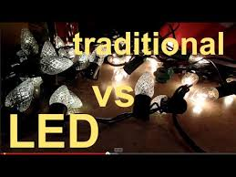 outdoor christmas lights led vs incandescent led christmas lights vs traditional christmas lights youtube