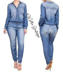 sleeve denim jumpsuit ggotta s marlo denim jumpsuit ggotta boutique