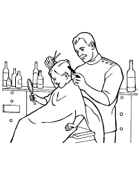 Barber Job Is To Cut Hair Coloring Pages Batch Coloring Cut Coloring Pages
