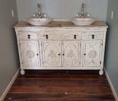 painted shabby chic repurposed bathroom sink vanity repurposed