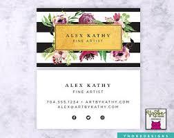 Vistaprint 9 99 Business Cards Make Up Artist Etsy