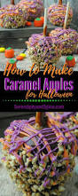 how to make caramel apples for halloween spooky food party