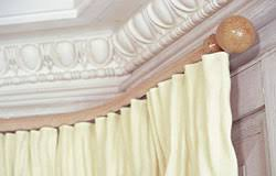 Cream Wooden Curtain Pole Corded Curtain Poles An Elegant Solution For Straight Or Bay Windows
