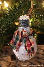 snowman light bulb ornament light bulb