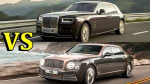 phantom bentley 2018 rolls royce phantom vs 2017 bentley mulsanne youtube
