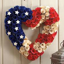 heart wreath wooden patriotic heart wreath colorful images