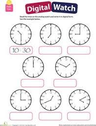 telling time practice worksheets u0026 digital hour half hour clip art