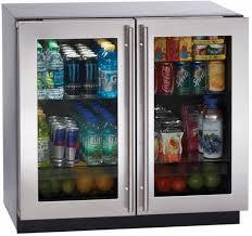 Glass Door Home Refrigerator by 00 U Line 3000 Series 36