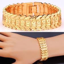 chain link bracelet patterns images Collare hot mens bracelets christmas gift gold color flower 20cm jpg