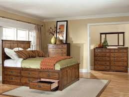 Antique Mission Style Bedroom Furniture Oak Park Captains Bed Vintage Oak