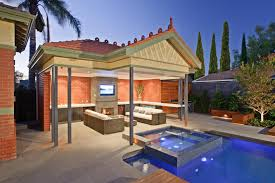 modern alfresco pool area of a heritage house in park street by