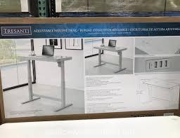 tresanti sit stand desk costco costco 1074719 tresanti nouveau adjustable height desk office