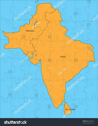Map Of Pakistan And India by Jigsaw Map India Pakistan Sri Lanka Stock Illustration 64860274