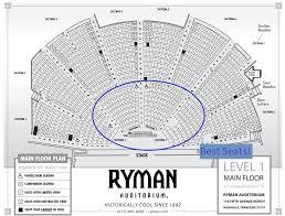 ryman seating map at the ryman auditorium 2do nashville