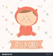 baby shower card baby cute stock vector 376617226 shutterstock