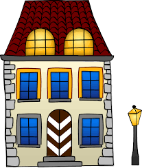 free two storey house with attic clip art