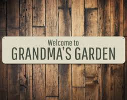 Personalized Garden Decor Grandmas Garden Etsy