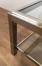 set de table vintage table basse vintage en chrome set de 2 en vente sur pamono