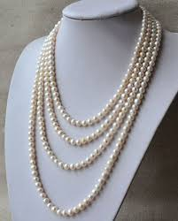 long pearls necklace images Real pearl necklace clipart jpg