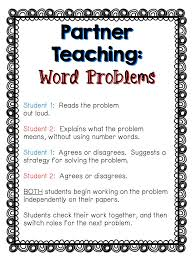 tackling word problems in partners math word problems math